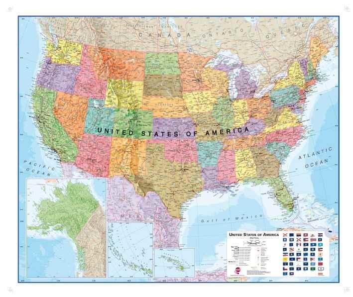 Amerika Kaart